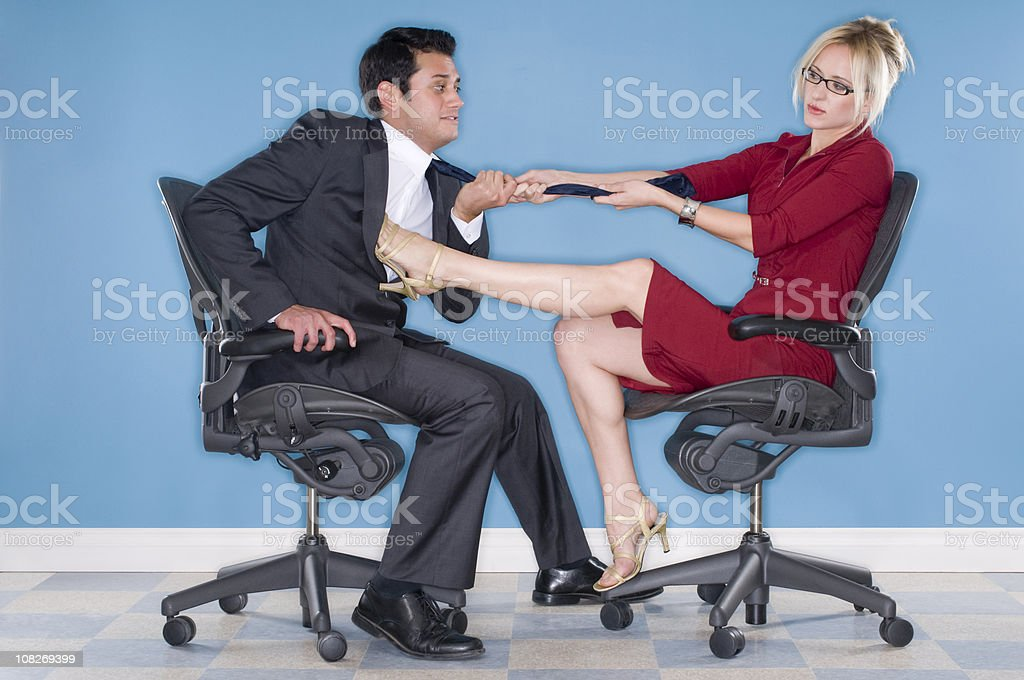 Power Play In The Workplace stock photo