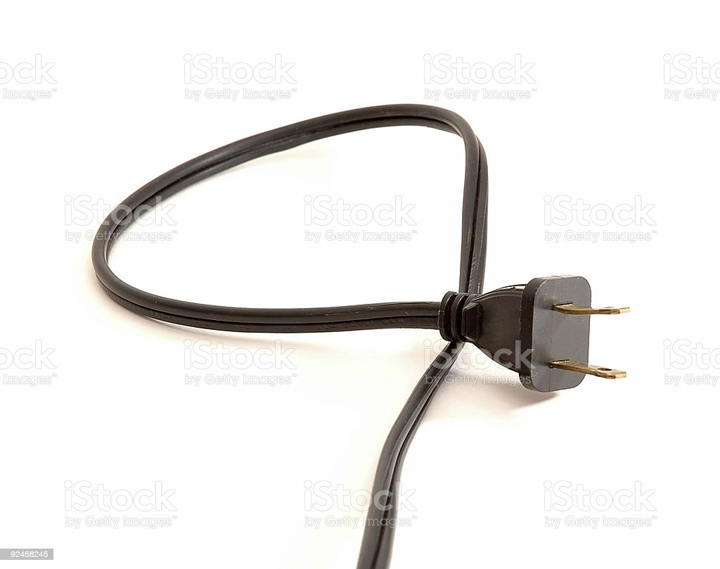 Power Plug and Cord royalty-free stock photo