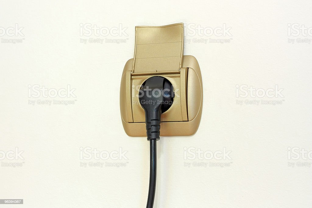 Power Plug and Socket royalty-free stock photo