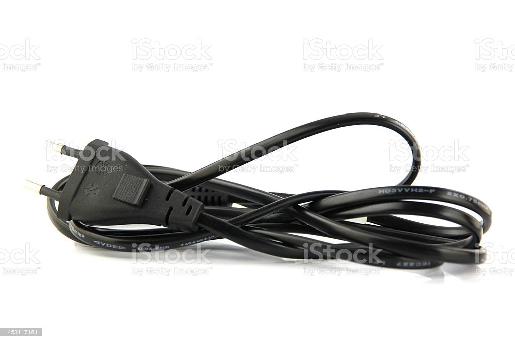 Power Plug cable line. royalty-free stock photo