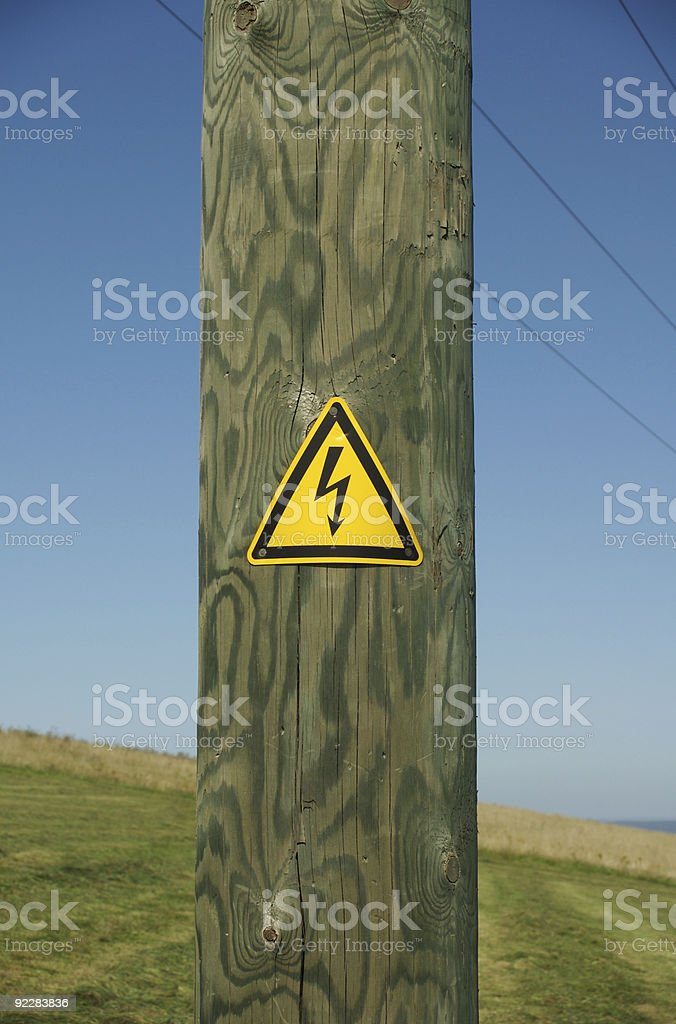 Power pole in the countryside royalty-free stock photo