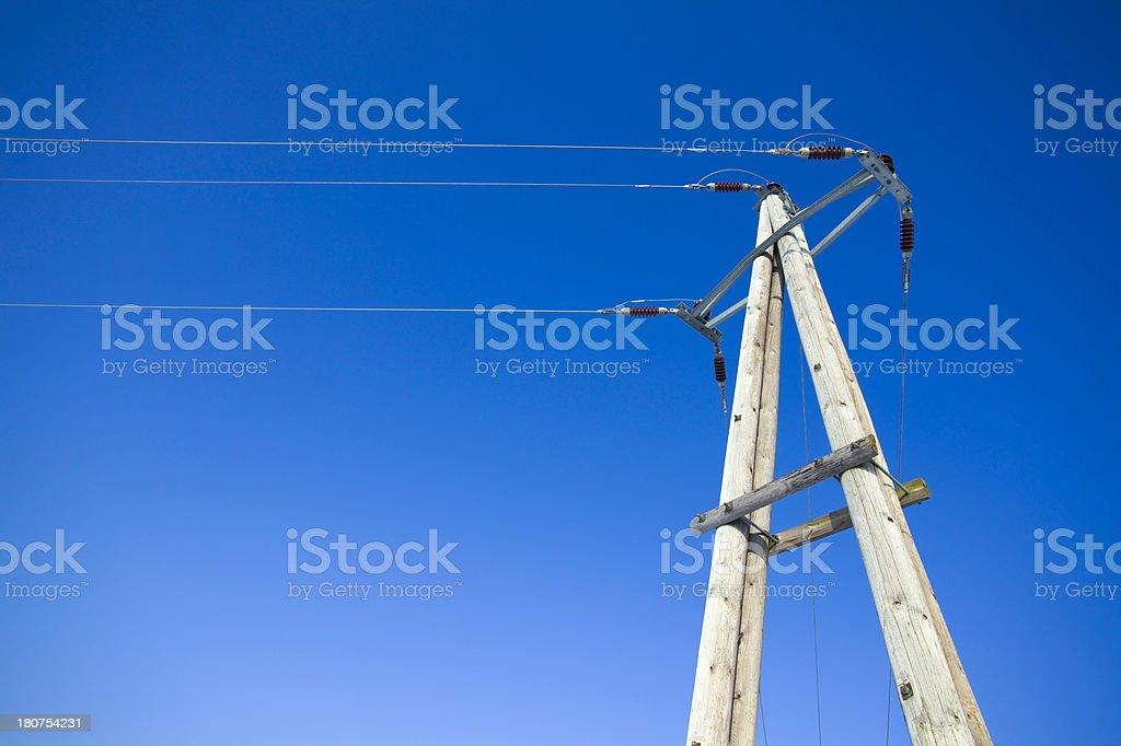 power pole royalty-free stock photo