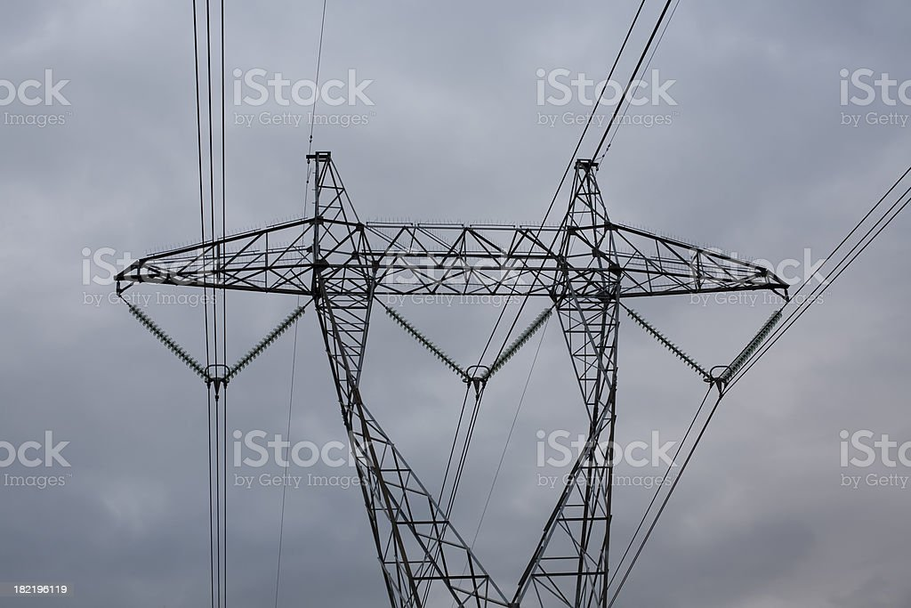 power pole stock photo