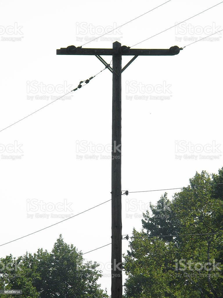Power Pole Silhouette royalty-free stock photo