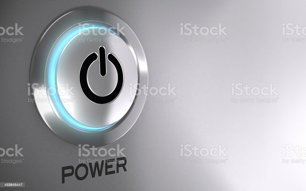 Power Push Button Activated stock photo