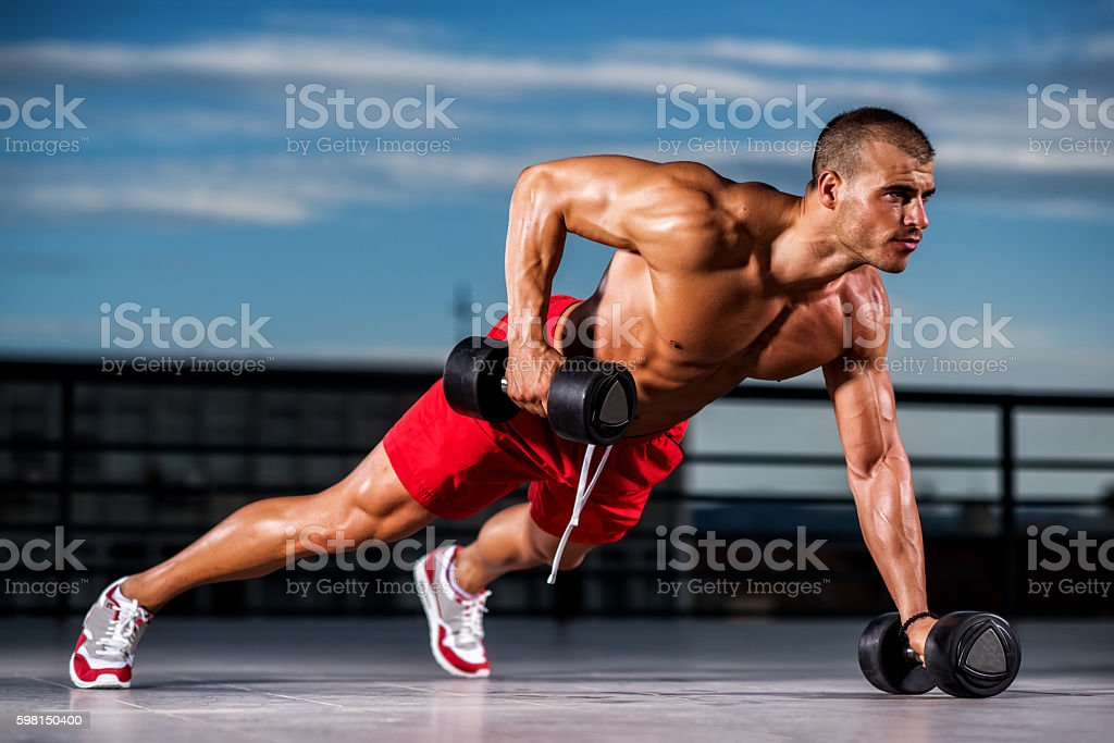 Power Push-Ups stock photo