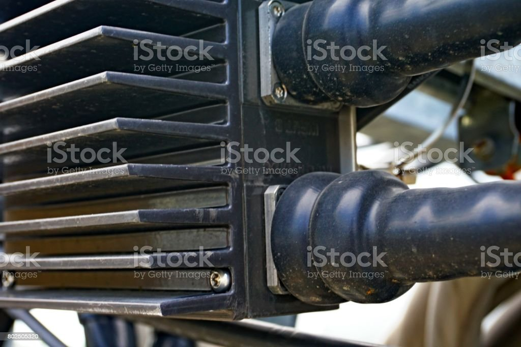 Power RF coaxial cable stock photo