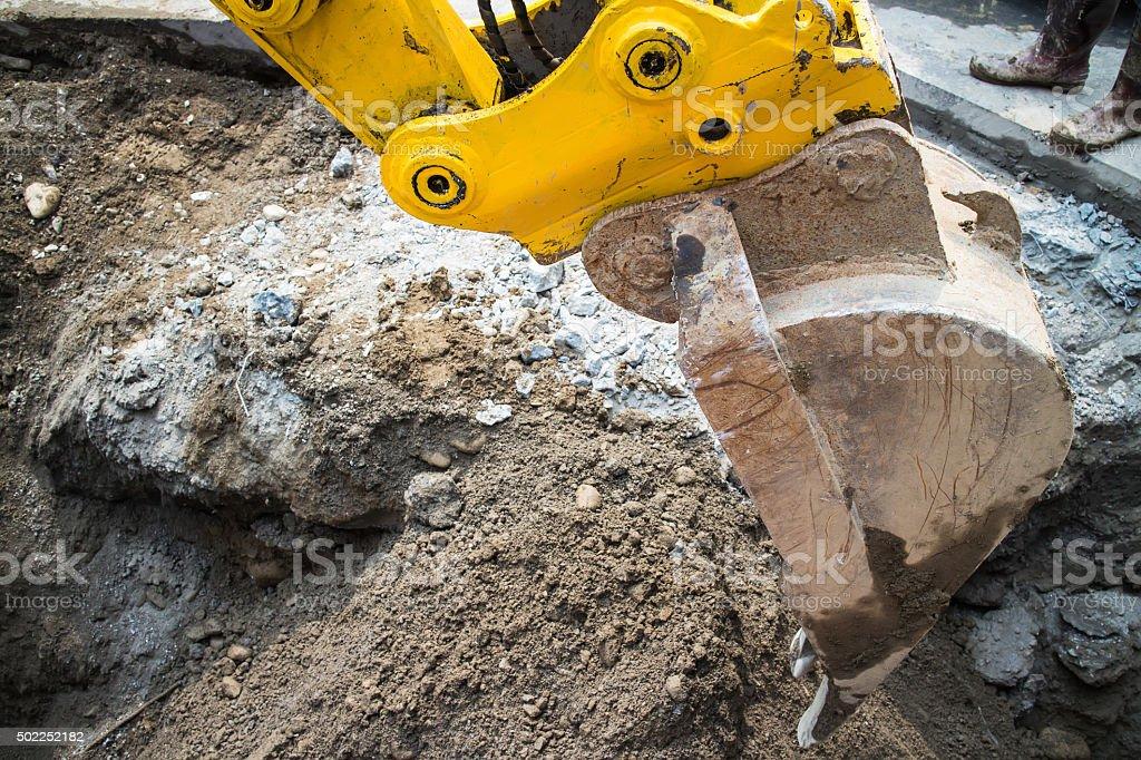 Power shovel stock photo