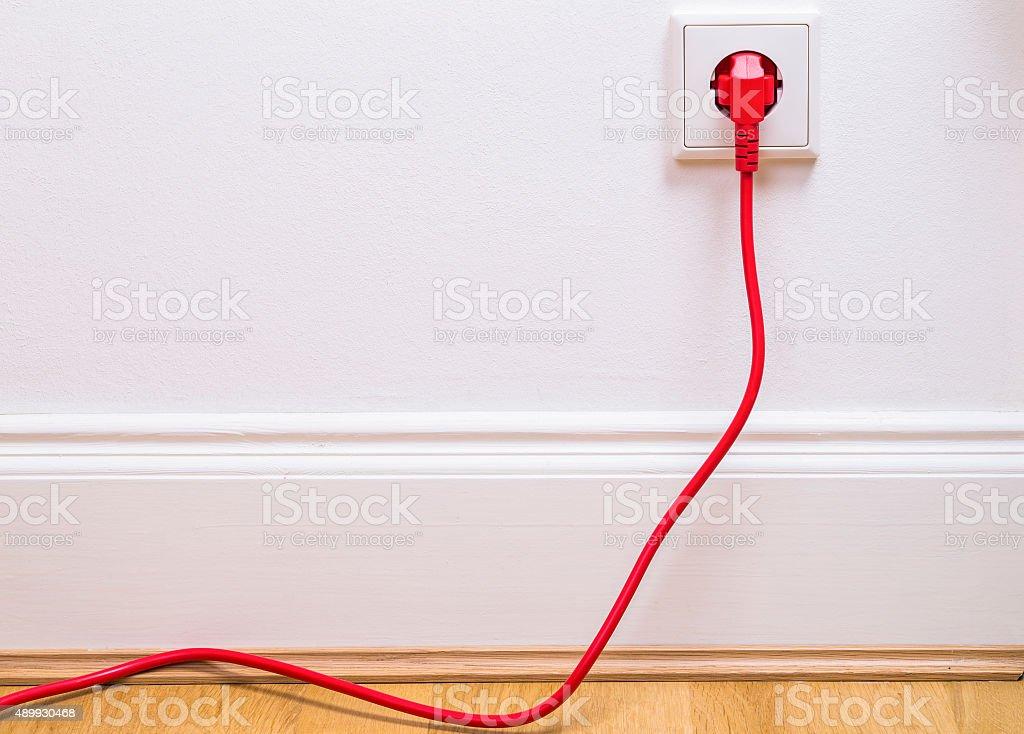 Power socket stock photo