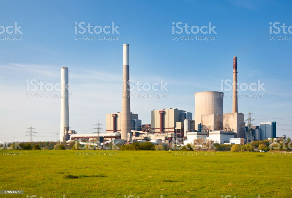 Power Station And Meadow royalty-free stock photo