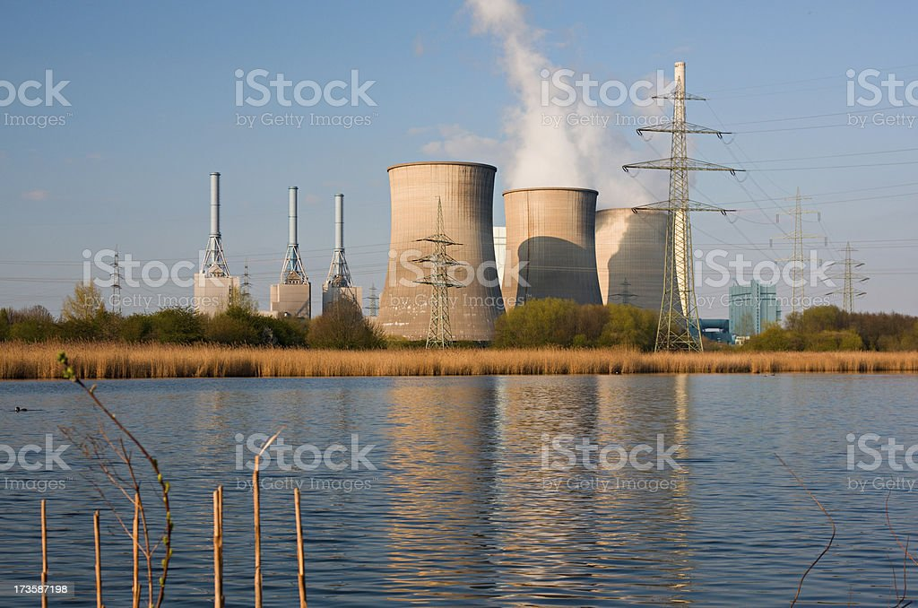 Power Station And Nature royalty-free stock photo