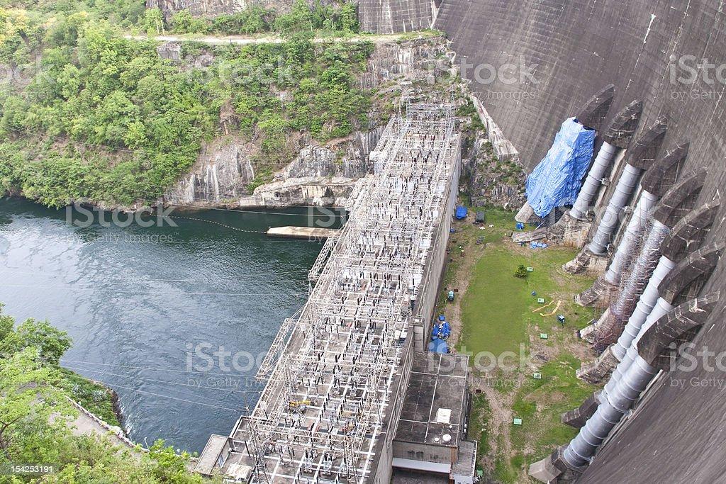 Elektrownia w Bhumibol Dam w Tajlandii zbiór zdjęć royalty-free