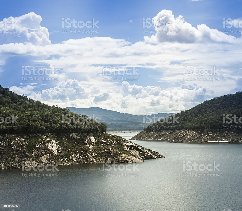 power station at the Bhumibol Dam in Thailand. stock photo