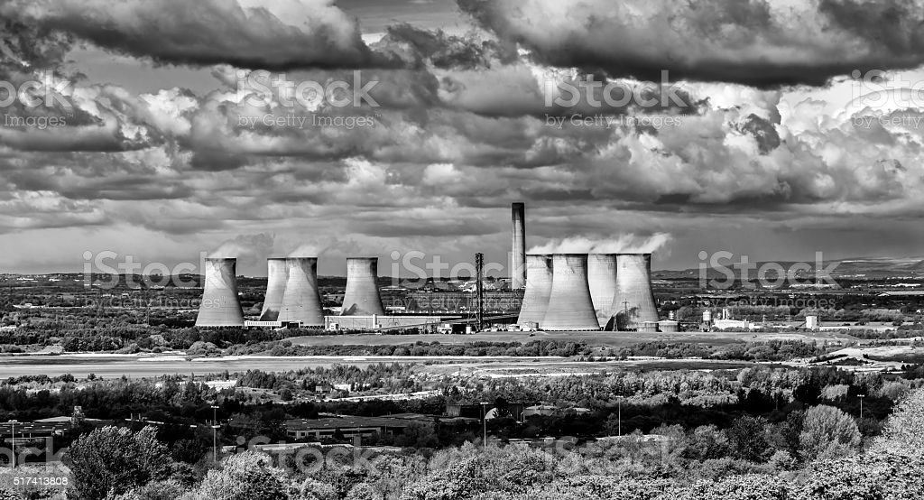 Power Station, Cheshire stock photo