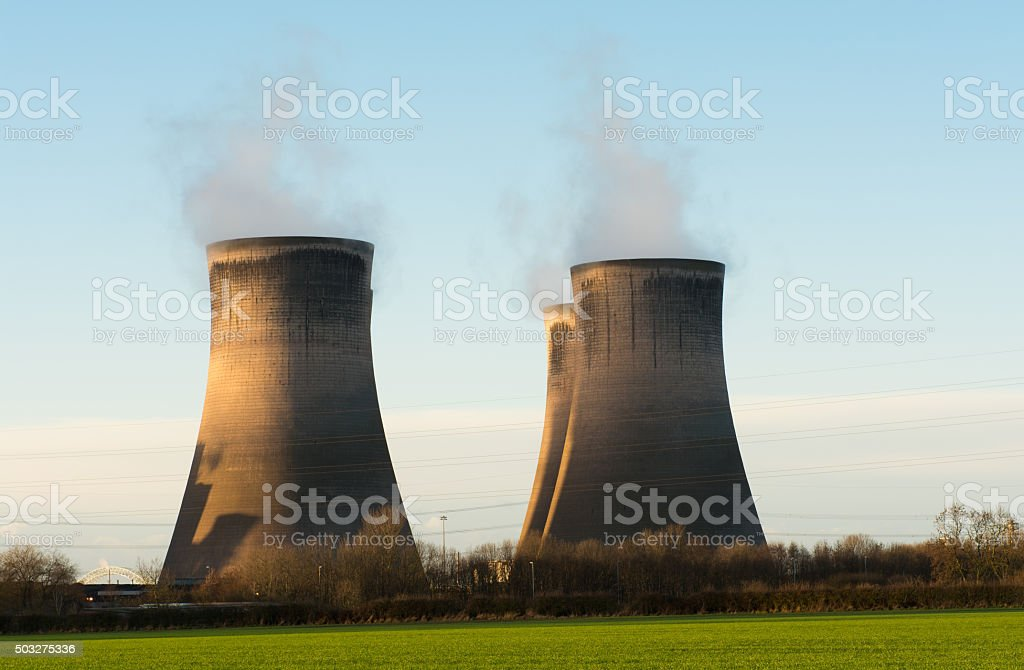 Power Station Cooling Towers stock photo