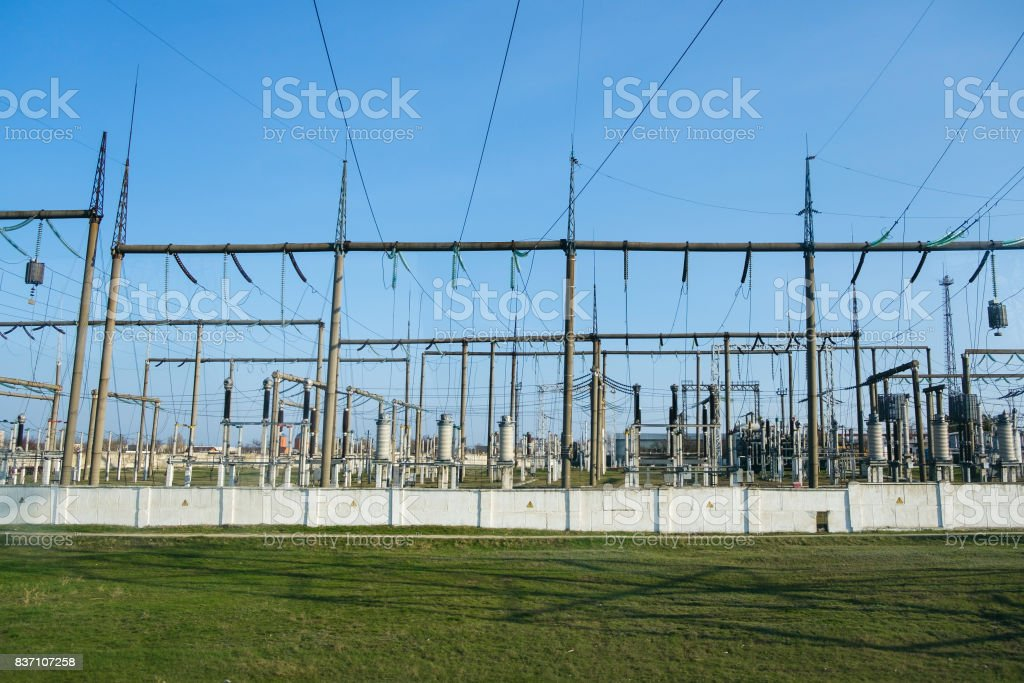 Power station for electrical Industry stock photo