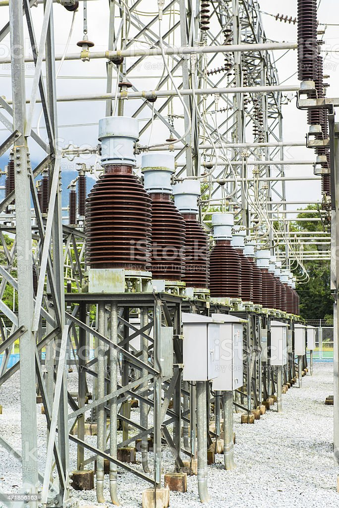 Power station for making electric energy royalty-free stock photo