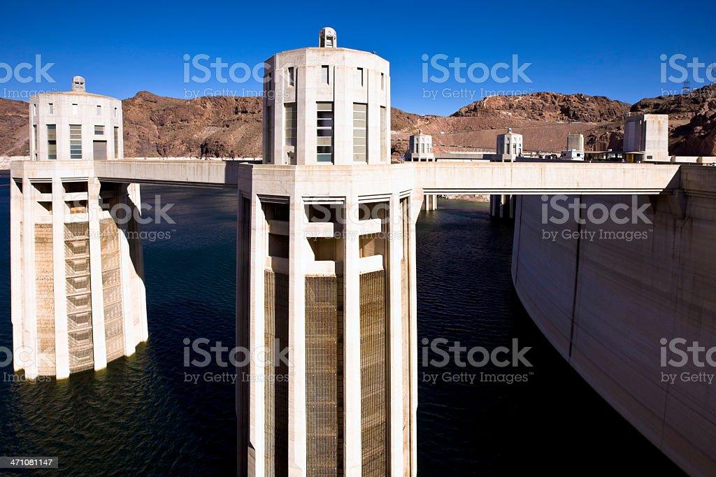 Power Station Hoover Dam Intake USA royalty-free stock photo