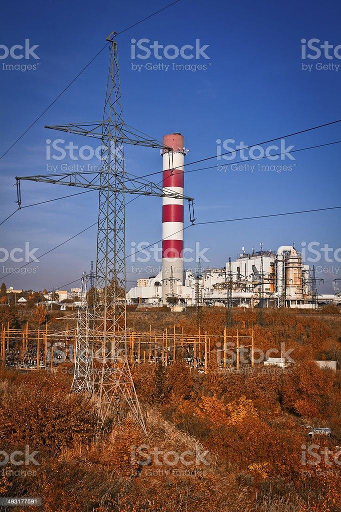 Power station in Szczecin, Poland royalty-free stock photo