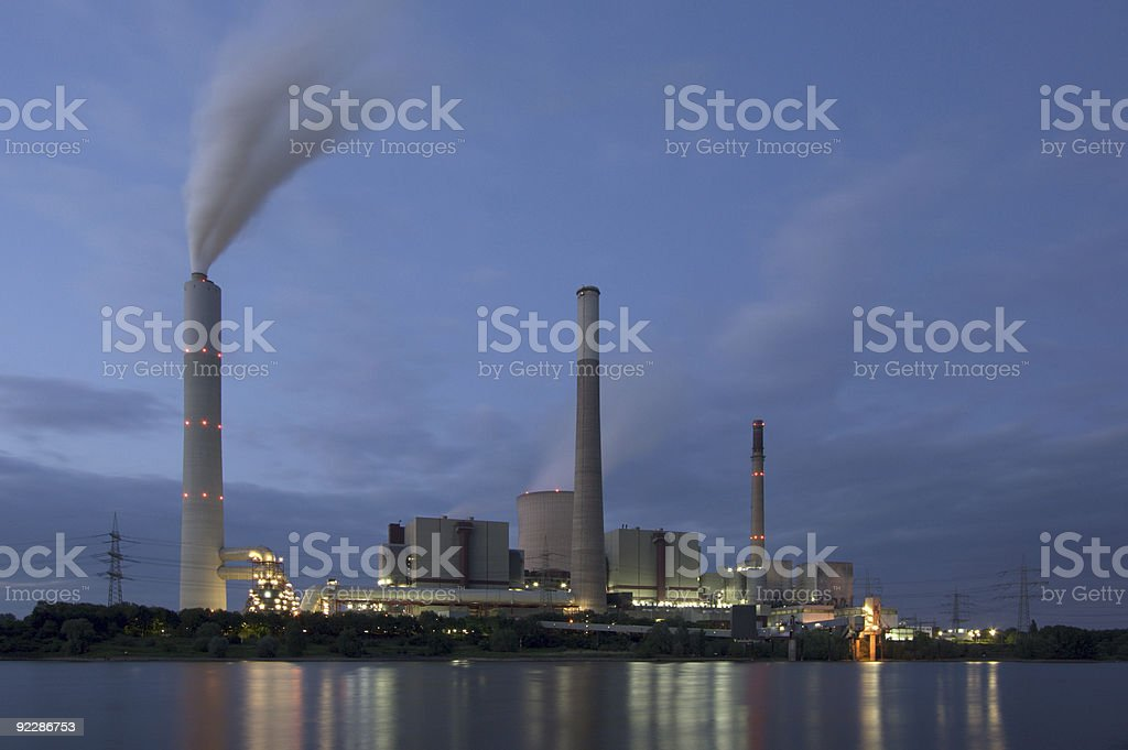 Power Station In The Evening royalty-free stock photo