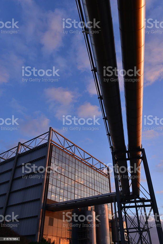 Power station, Jersey, U.K. stock photo