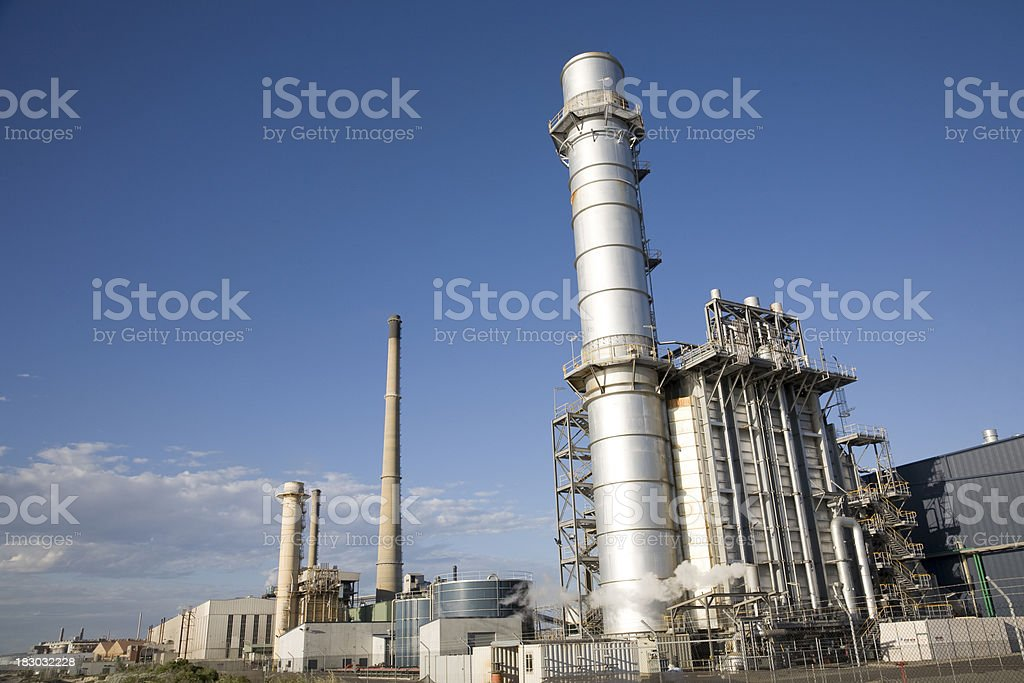 Power Station Landscape royalty-free stock photo