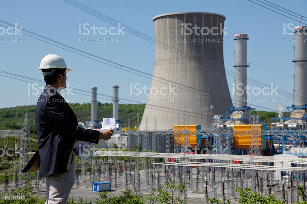 Power Station stock photo