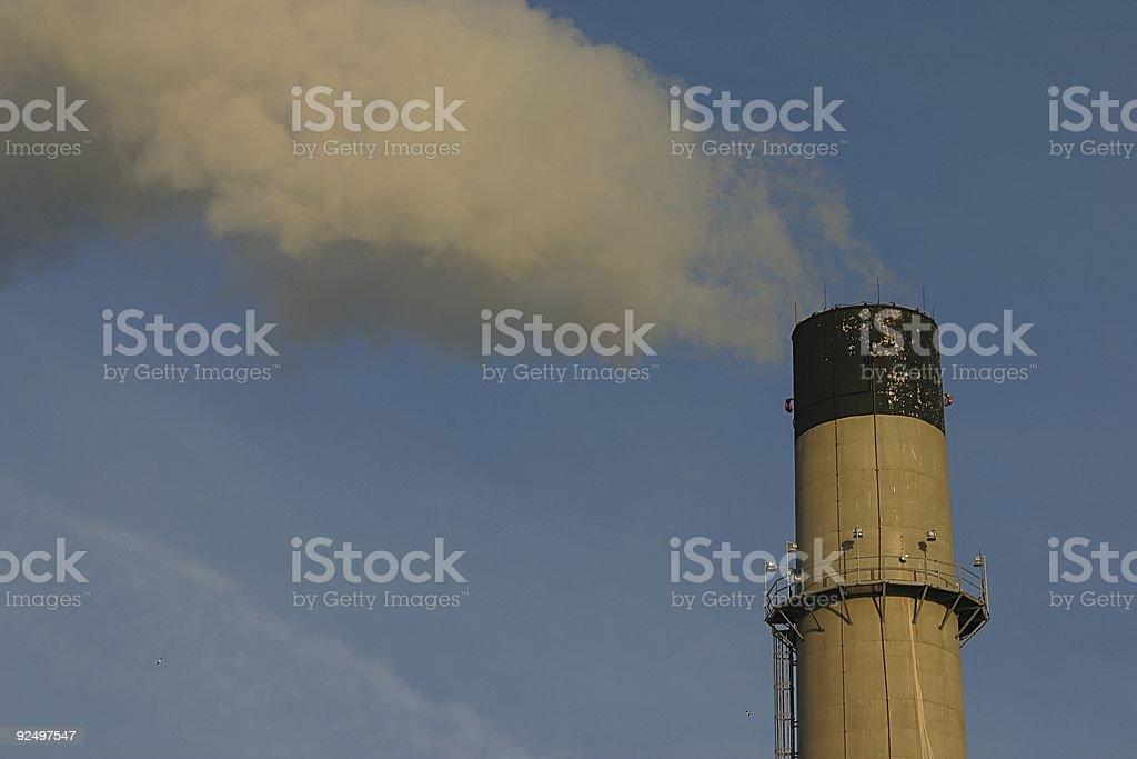 Power Station Smokestack royalty-free stock photo