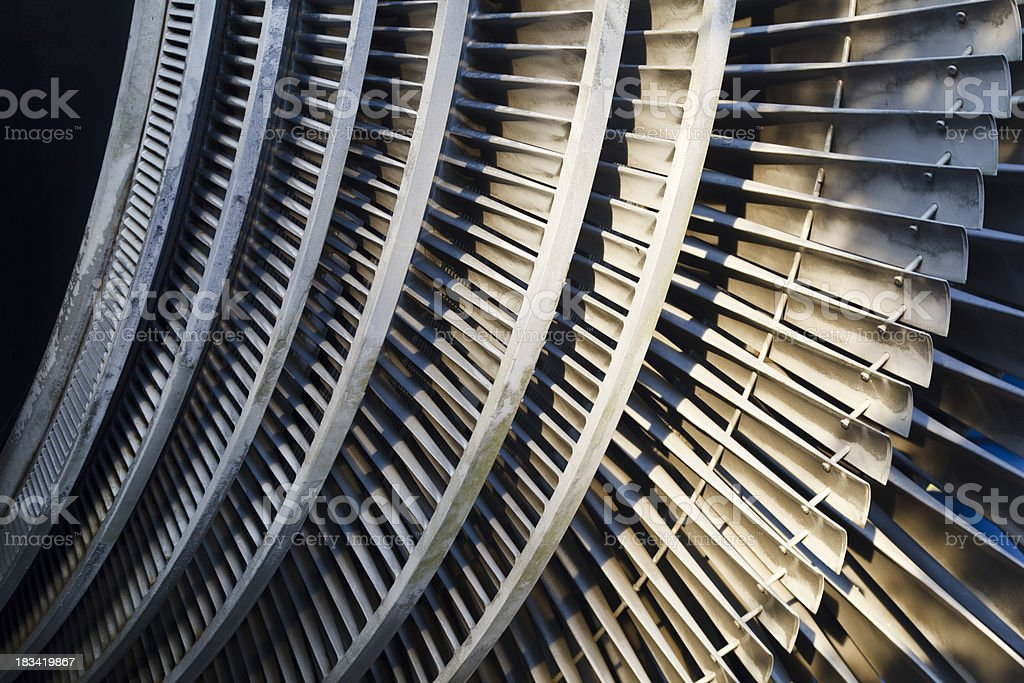 Power Station Turbine Detail stock photo