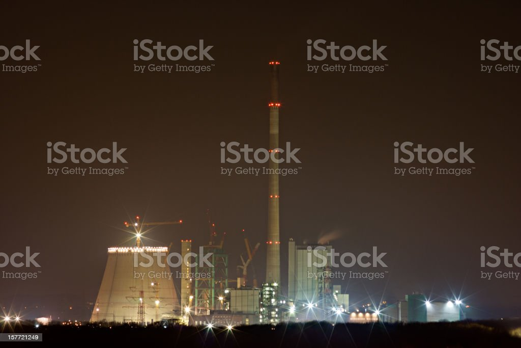 Power Station Under Construction royalty-free stock photo