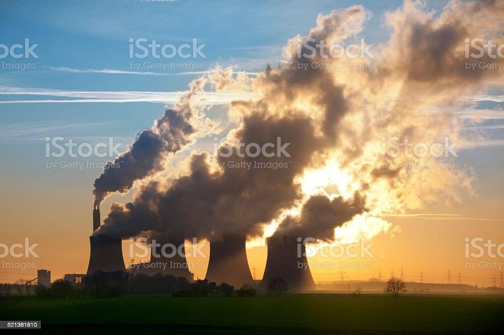Power Station - United Kingdom stock photo