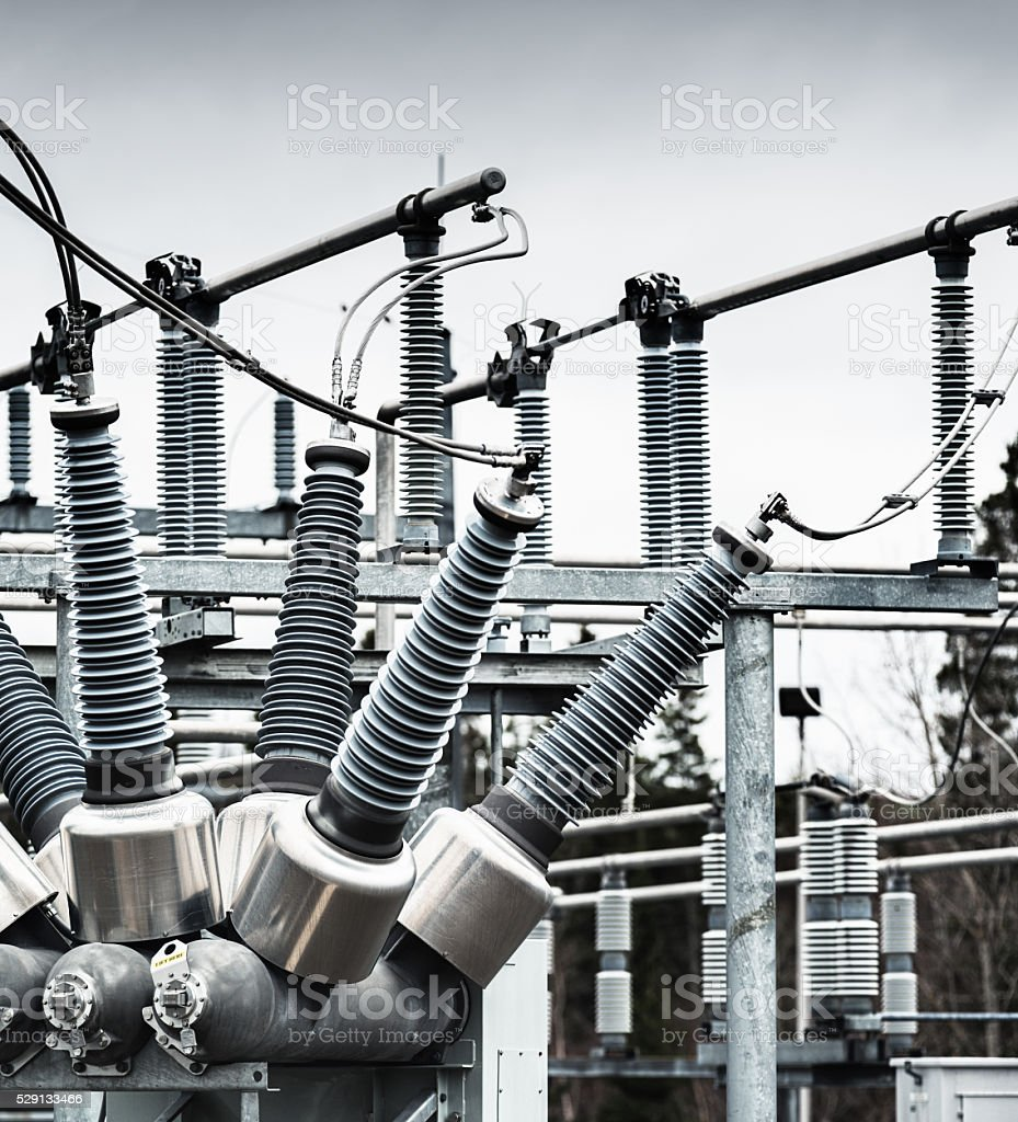 Power Substation stock photo