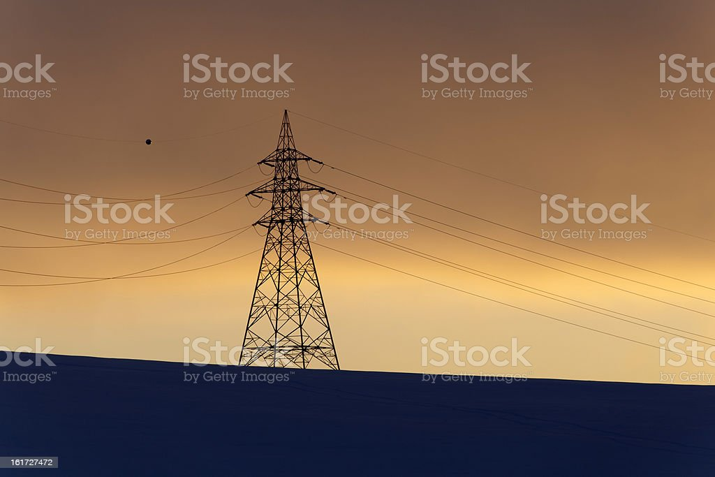 power sunset royalty-free stock photo