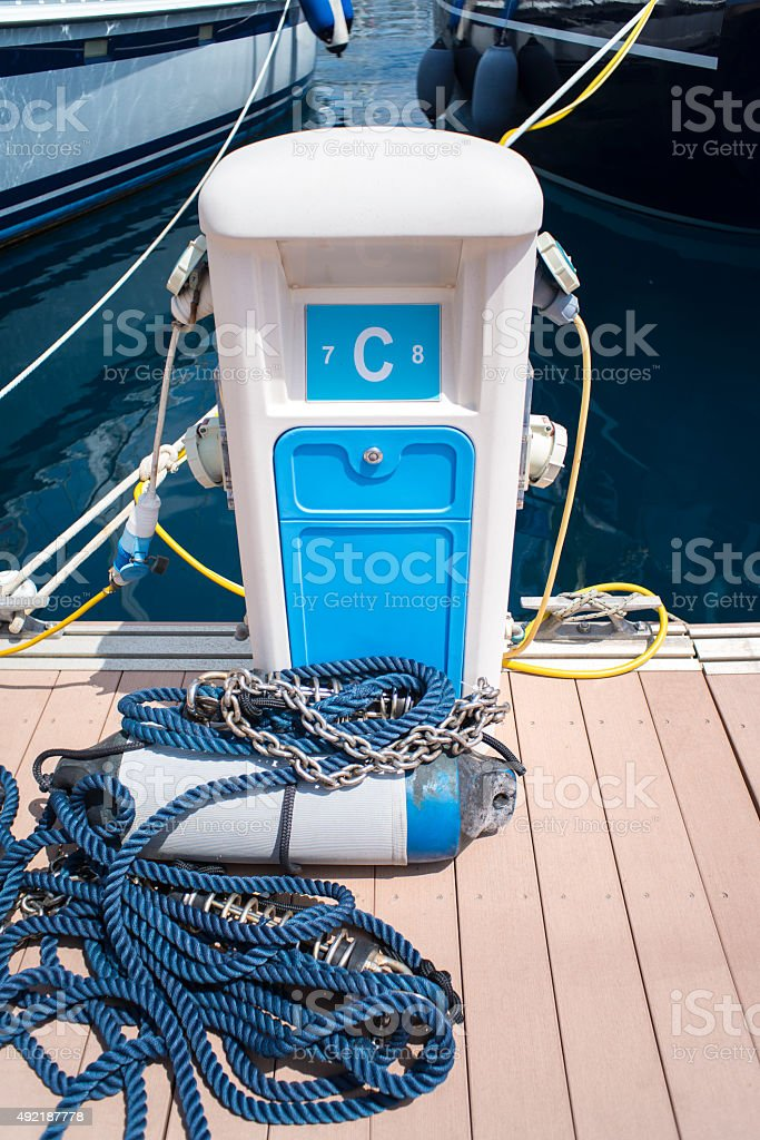 Power Supply for boats stock photo