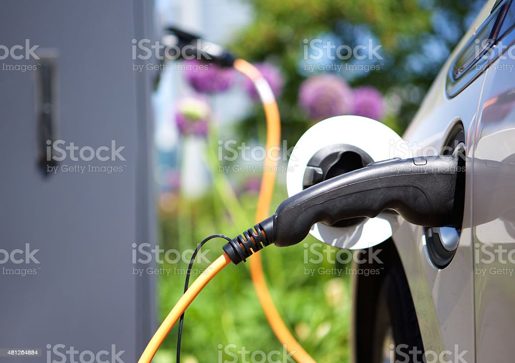 Power supply for hybrid electric car stock photo