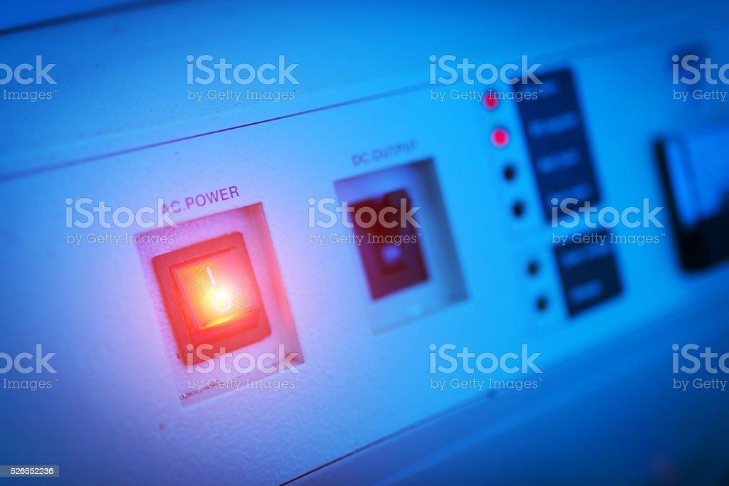 Power supply in data center room stock photo