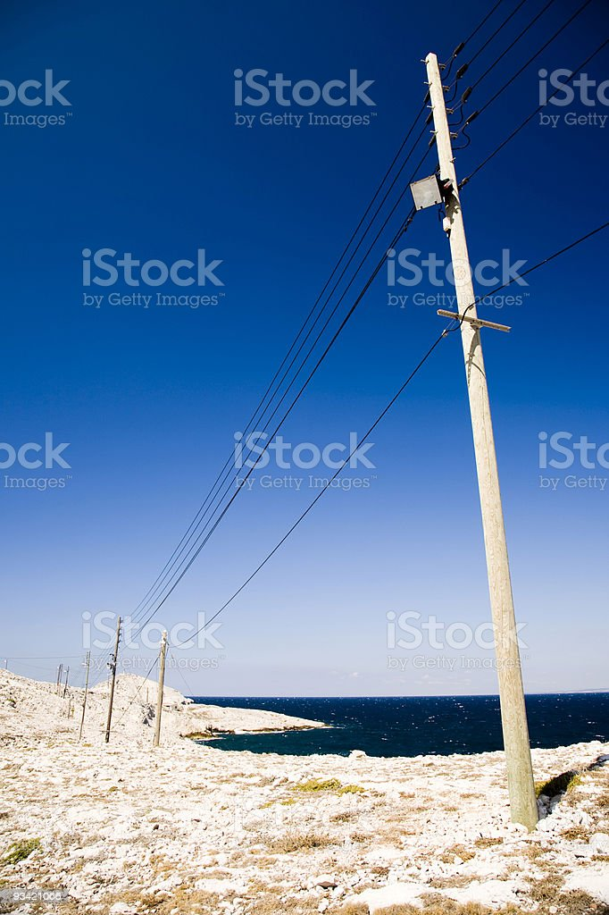 Power Supply Line royalty-free stock photo