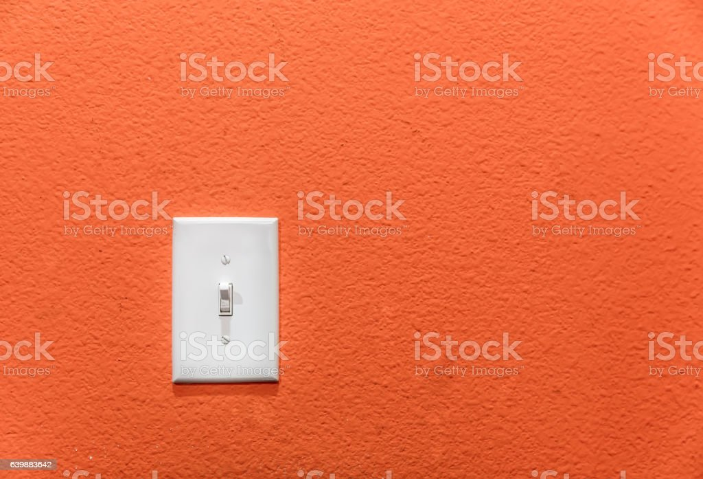 Power switch on the wall. stock photo
