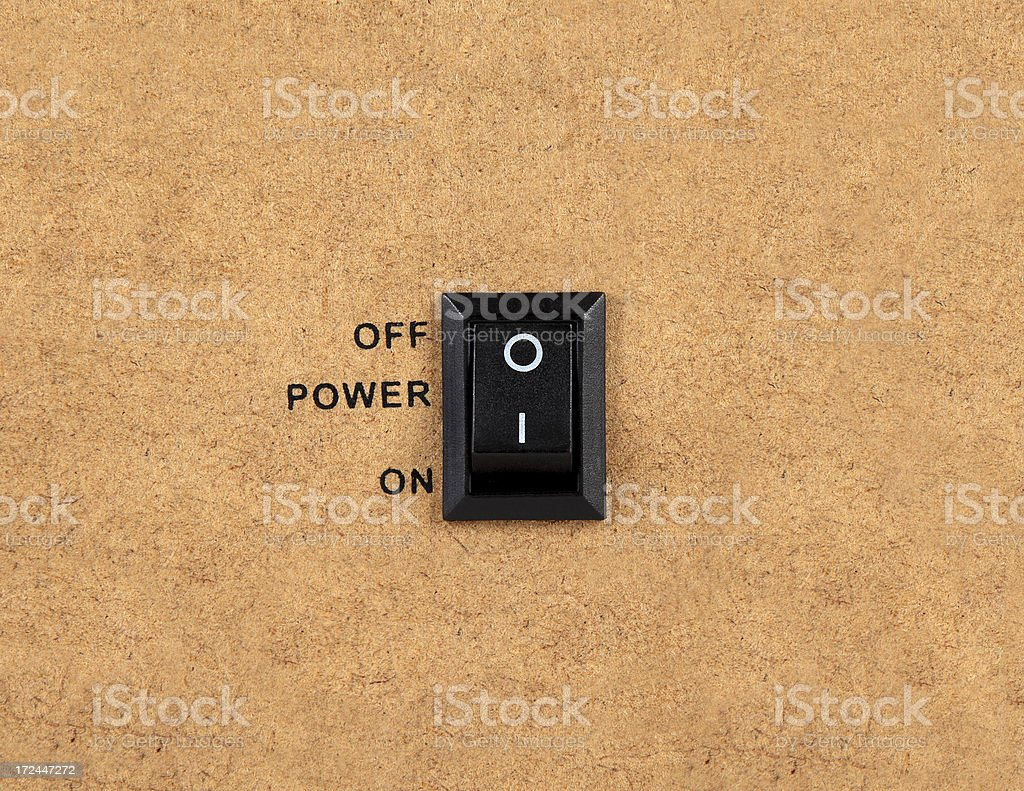 Power Switch On-Off (Click for more) royalty-free stock photo