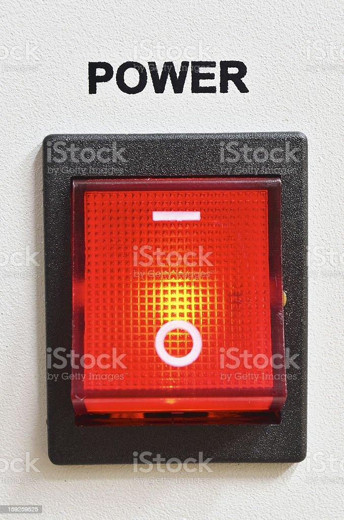 power switch royalty-free stock photo