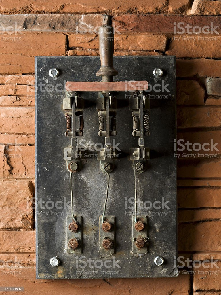 Power switch stock photo