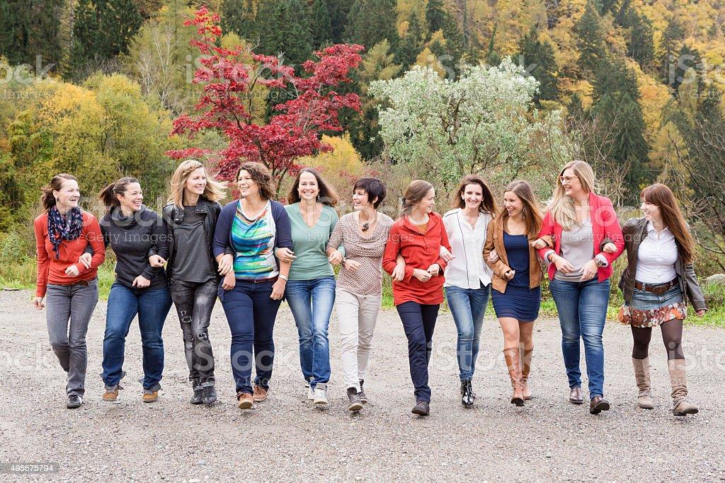 Power team of women stock photo