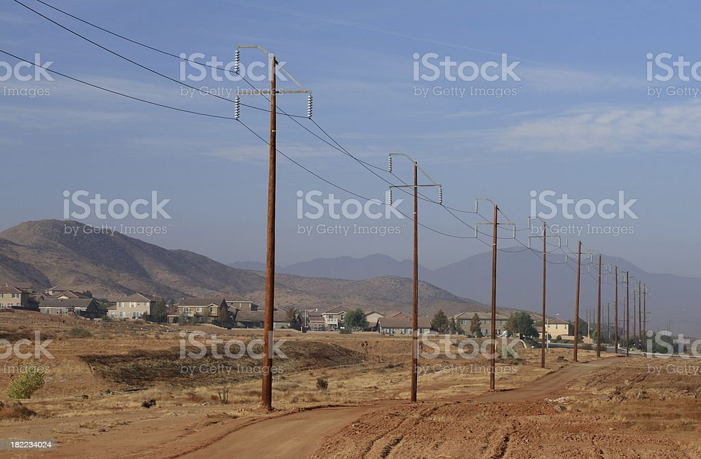 Power to New Homes stock photo