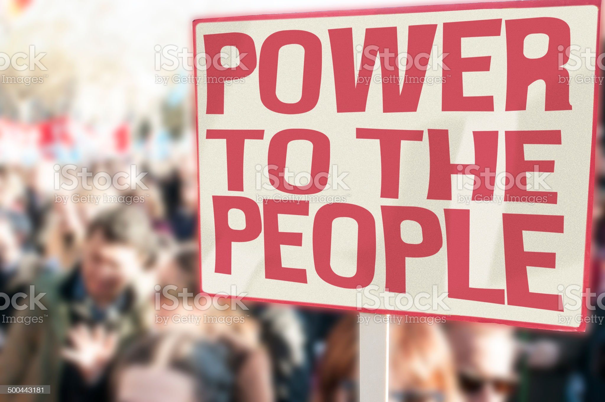 Power to the people royalty-free stock photo