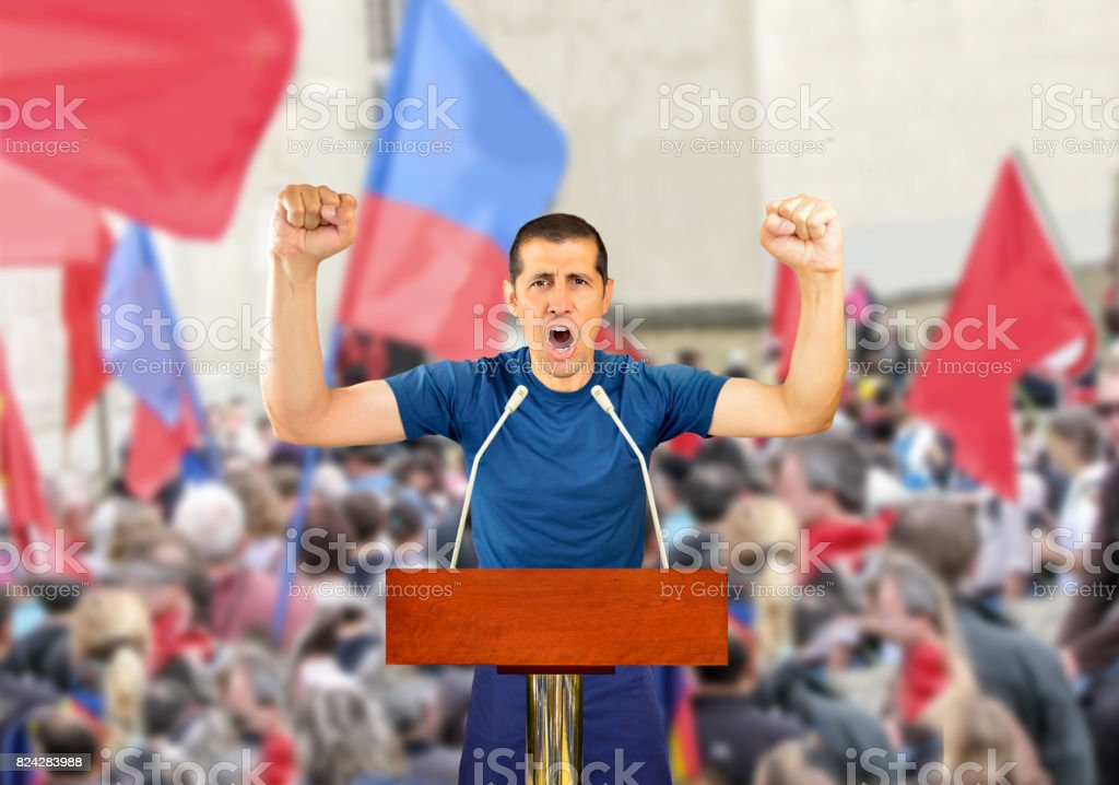 Power to the people! stock photo