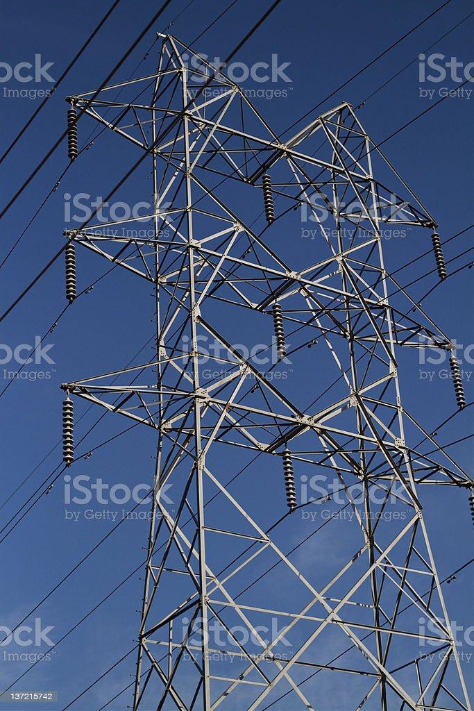 Power Transmission Line royalty-free stock photo