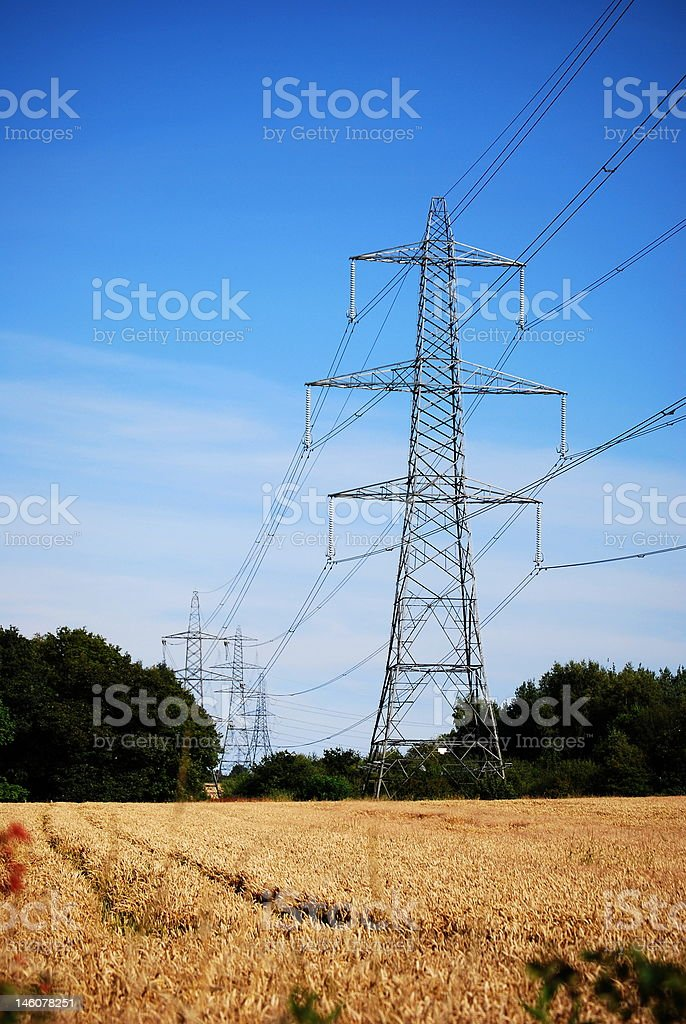 Power transmission tower(s) royalty-free stock photo