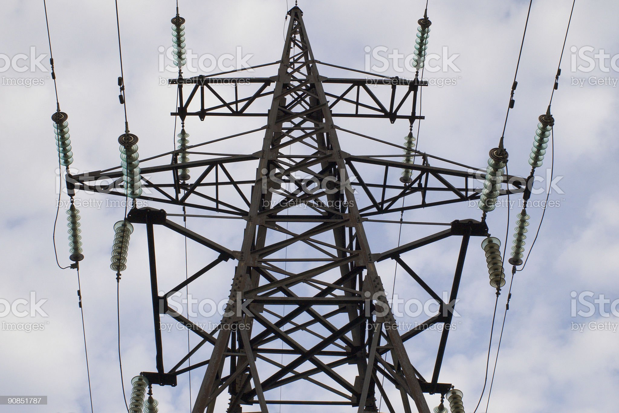 power transmission tower royalty-free stock photo
