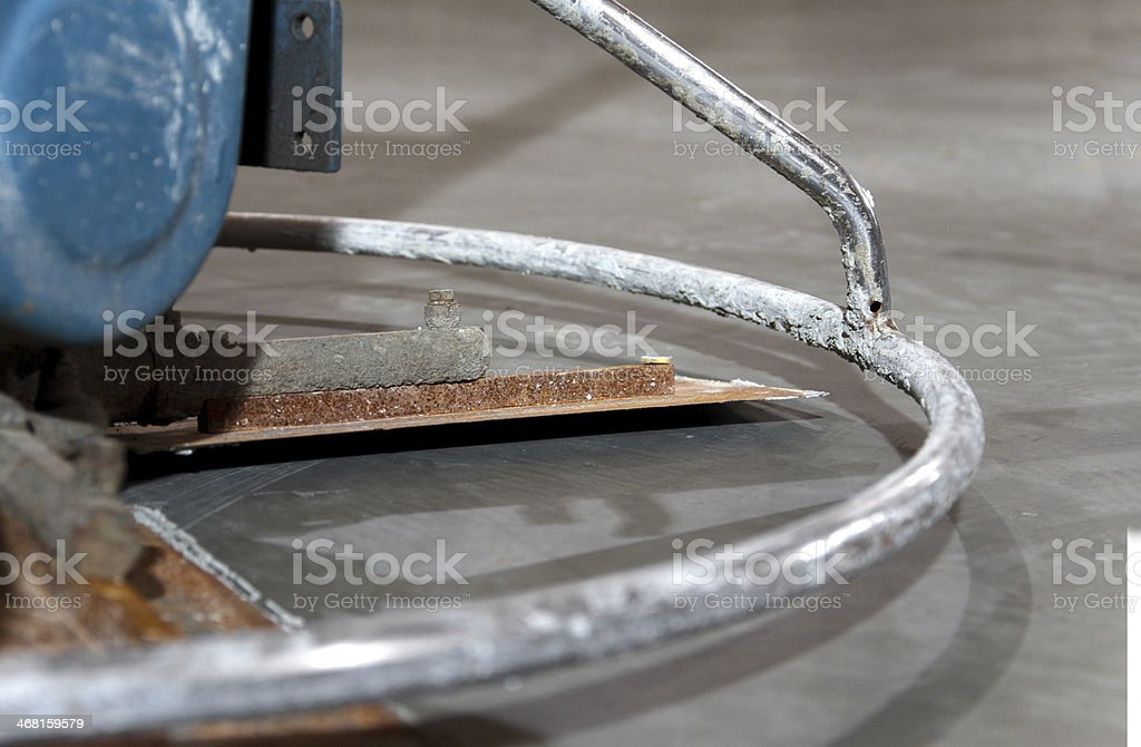 Power Trowel Closeup royalty-free stock photo