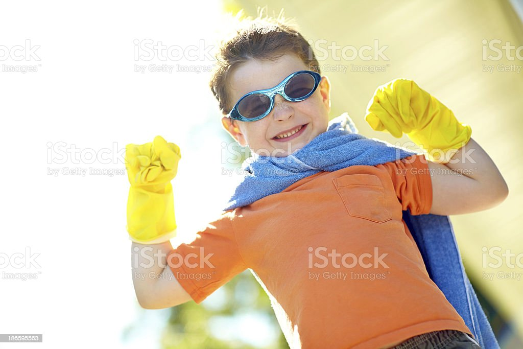 Power up before battle royalty-free stock photo